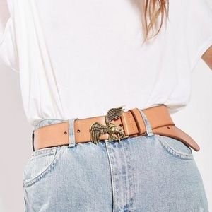 TOPSHOP Eagle Leather Belt